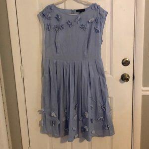 Eloquii Blue 3D flower dress
